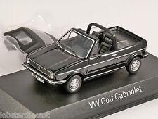 1981 Volkswagen Golf Mk1 Cabrio en Negro - 1/43 Escala Modelo Norev