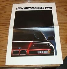 Original 1990 BMW Full Line Sales Brochure 90 850i 750iL 735i