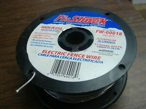 Fi-Shock Electric Fence Wire 250 ft Spool Aluminum Wire 17 Gauge Free Shipping