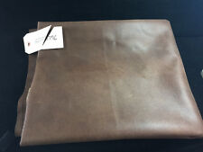 2.75 Yds Piece Of Medium Grain Brown Faux Leather Vinyl Upholstery Fabric