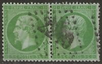 France 1862-71 Napoleon 5c Yel Grn #23 F/VF Used PAIR  Yvert #20