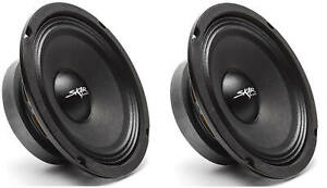 (2) NEW SKAR AUDIO FSX65-4 6.5-INCH 4 OHM 300W MAX CAR PRO AUDIO SPEAKERS - PAIR