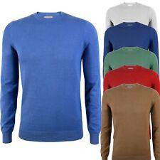 Maglia Uomo Pullover Cotone Primaverile Blu Giallo Rosso Verde Slim Fit M a 3xl