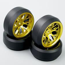 1:10 RC Car Speed Drift 3 Degree Tires Tyre Golden Wheel Rim DHG For HPI HSP 4X