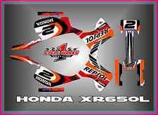 HONDA XR650R XR 650R  SEMI CUSTOM GRAPHICS KIT Repsol Honda