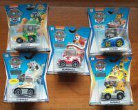 Paw Patrol Mighty Pups Bundle True Metal Die Cast Cars Vehicles x5 Nickelodeon