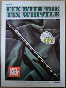Fun With The Tin Whistle Mel Bay tutorial book and CD for D whistle