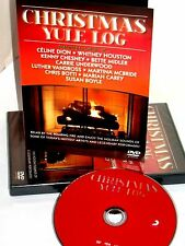 CHRISTMAS YULE LOG, DVD FIREPLACE CARRIE UNDERWOOD,WHITNEY HOUSTON,CELINE DION,