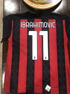 2020-2021 AC Milan Jersey Zlatan Ibrahimovic #11 Size EU X-Large