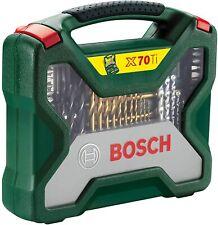 Bosch 70tlg. Titanium-Bohrer und Schrauber Set X-Line X70Ti (Holz, Stein Metall)
