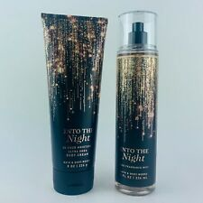 Bath & Body Works INTO THE NIGHT body Cream & Fragrance Mist Gift Set 8 fl.oz