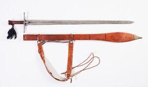 AROUND 20th C ANTIQUES SUDANESE KASKARA SHORT SWORD ARABIC ISLAMIC AFRICAN KNIFE