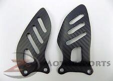 MATTE 2006-2010 GSX-R 600 750 Rearset Foot Guard Heel Mount Plate Carbon Fiber