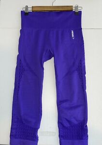 Gymshark Women's Energy Seamless Crop Legging Purple Size M