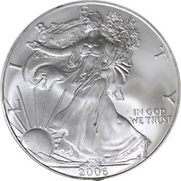 2006-P Silver American Eagle $1 NGC MS69 Burnished Brown Label