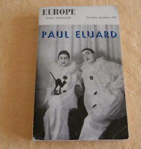revue mensuelle Europe Paul ELUARD Nov. Déc 1962