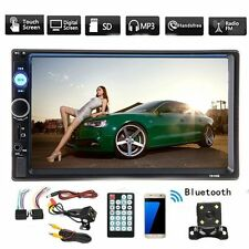 "7"" 2 Din Touch Screen Car MP5 Player Stereo Bluetooth FM Radio + FREE Camera TTR"