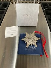 Towle Sterling Silver 2005 Snowflake Christmas Ornament