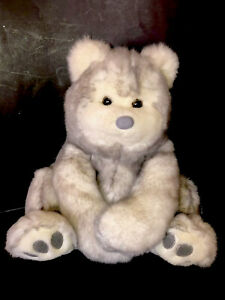 Commonwealth Grey Bear Large Grey White Tipped Plush Stuffed Animal 16 Inch