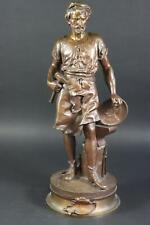 """""""Le Travail"""" Schmied 53 cm Bronze Figur signiert DUCHOISELLE um 1900 (ML7261)"""