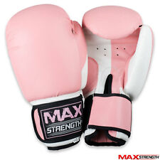 Pink Ladies Punch Bag Gloves Womens Boxing Punching Mitts Pro Kick Muay Thai UFC