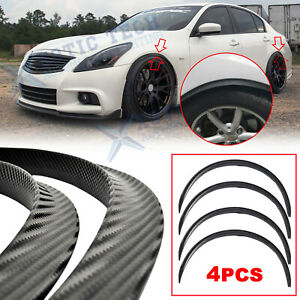 For Infiniti G37 Q50 Q60 Q70 Carbon Fiber Wheel Eyebrow Fender Strip Arch Trims
