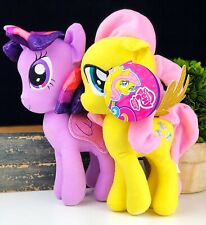 "(2) My Little Pony 11"" Fluttershy NWT & Twilight Sparkle Plush Toy Glitter Wings"