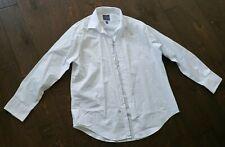 MADISON SLIM FIT L size 16-16.5, 32/33 Men's White Dress Shirt