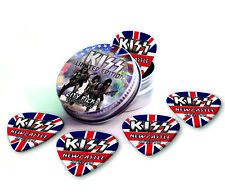 Newcastle City X 5 Kiss Guitar Picks Collection In Tin
