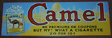 Vintage Camel Cigarettes Advertising Metal Tin Sign But My! What A Cigarette