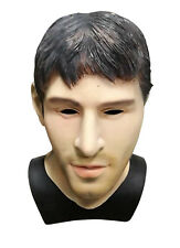 Latex Realistic Male Head Masks Human Look Halloween Cosplay Costumes Messi Mask