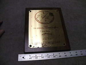 1980 CLIO 7th Annual Fishing Rodeo 2nd Place White Trout Award Plaque
