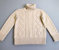 New Authentic Gucci Kids Wool Turtle Neck Sweater Knitwear Top w/Web, 3, 270705