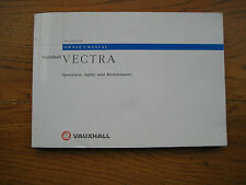 Vauxhall Vectra Owners Handbook/Manual 98-02