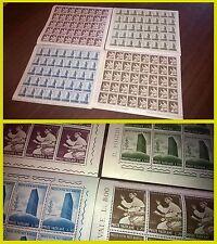 Vaticano 1965 Paolo VI Pacis Nuntius 4 fogli interi francobolli NUOVI