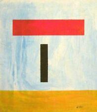 Vintage Abstract Canvas Signed Burgoyne Diller,  Modern  Art  20th Century