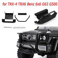 Metal Front Bumper Split-typefor TRX-4 TRX6 Benz 6x6 G63 G500 Car Upgrade Parts