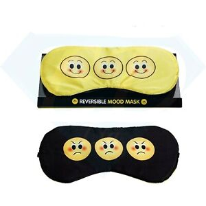 Reversible Emoji Mood Eye Mask Sleep Mask Soft Padded Blindfold Great Gift