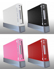 Nintendo Wii Skin Sticker Decal Cover 4 Choice CARBON FIBRE WHITE BLACK PINK RED