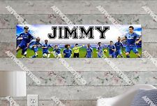 Personalized/Customized Chelsea Football Club Name Poster Wall Art Banner