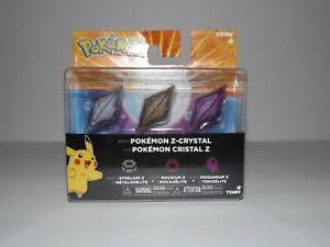 Pokemon Z-Ring 3-Pack Steelium Z Rockium Z & Poisonium Z Crystal