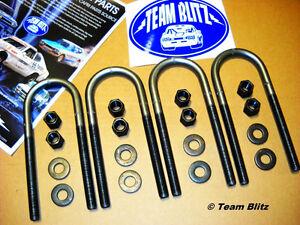 Ford Capri Axle U-Bolt Kit For Leaf Springs, Extended Length Heavy Duty Diameter