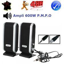 ENCEINTE HAUT PARLEUR SPEAKER MULTIMEDIA USB AC ORDINATEUR PC AVEC AMPLI 48h