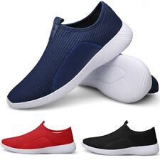 Men's Breathable Mesh Slip on Running Shoes Casual Walking Athletic Sneakers Gym