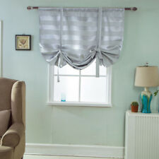Beauty Blackout Roman Curtain Sheer Tie Up Window Balloon Shade Voile 03
