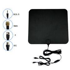 Long Range HDTV Indoor Flat Antenna Amplified VHF UHF 1080P Digital TV 50 Miles
