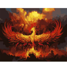 Painting By Numbers Kit on Canvas Fire Phoenix Paint By Number DIY Painting