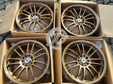 "RAYS ALLOY WHEELS RE30 GOLD BRONZE 18""  5x108 VOLVO 850R T5 S40 S60 S70 S80 V90"
