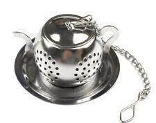 Tea strainer, Teapot Shape Loose Tea Infuser, Stainless Steel