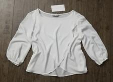 ZARA ❤ Bluse Shirt M38 weiß Lagenlook layering Struktur Optik NEU 3/4 Ärmel TOP